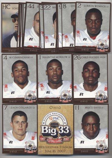 2007 Big 33 High School OH Ohio Football SEALED set