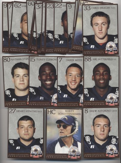 2007 Big 33 High School PA Penn Football SEALED set