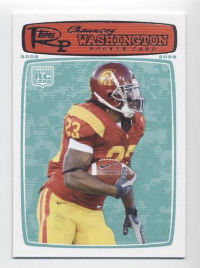 CHAUNCEY WASHINGTON 2008 Topps Rookie Progression USC TROJANS Jaguars