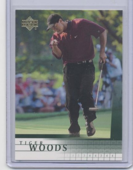 TIGER WOODS 2001 Upper Deck UD #1 ROOKIE PGA