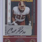 CARLOS ROGERS 2005 Playoff Contenders ROOKIE AUTO Ticket AUTOGRAPH