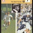 MATT & CHRIS BAHR 1979 Sportcaster Italy card PENN STATE Nittany Lions KICKER