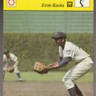 ERNIE BANKS 1977 Sportcaster Italy card Chicago Cubs Mr. CUB