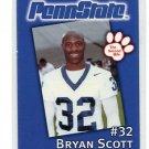 BRYAN SCOTT 2002 Penn State Second Mile college card BUFFALO BILLS