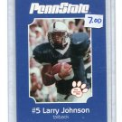 LARRY JOHNSON 2001 Penn State Second Mile college card  KC CHIEFS