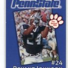 BRYANT JOHNSON 2002 Penn State Second Mile College Card NITTANY LIONS Cardinals DETROIT