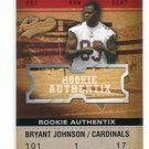 BRYANT JOHNSON 2003 Fleer Authentix #113 ROOKIE #d/1250 Penn State LIONS