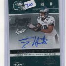 TONY HUNT 2007 Playoff Contenders ROOKIE AUTO Penn State EAGLES
