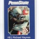 MICHAEL HAYNES 2001 Penn State Second Mile College card PRE-ROOKIE Bears