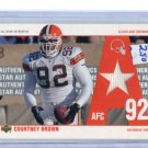 COURTNEY BROWN 2002 UD All-Star Authentics JERSEY Penn State BROWNS