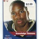 KNOWLEDGE TIMMONS 2005 Big 33 High School card PENN STATE CB