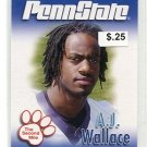 A.J. AJ WALLACE 2007 Penn State Second Mile CB Miami Dolphins