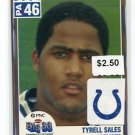 TYRELL SALES 2004 Big 33 High School card PENN STATE Colts