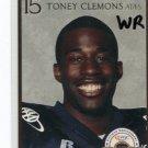 TONEY CLEMONS 2007 Big 33 High School card MICHIGAN Wolverines COLORADO Buffalo STEELERS WR