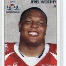JEREL WORTHY 2008 Big 33 High School card MICHIGAN STATE Spartans GREEN BAY GB Packers