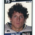 TYLER TKACH 2006 Big 33 High School card PITT PANTHERS