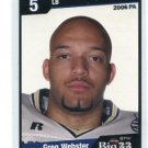 GREG WEBSTER 2006 Big 33 High School card PITT PANTHERS