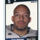 GREG WEBSTER 2006 Big 33 High School card PITT PANTHERS