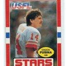 CHUCK FUSINA 1985 Topps USFL #15 PENN STATE Nittany Lions QB