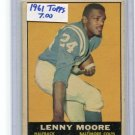 LENNY MOORE 1961 Topps #2 Colts PENN STATE