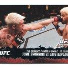 JUNIE BROWNING vs. DAVE KAPLAN 2009 Topps UFC #116 Lightweight MMA