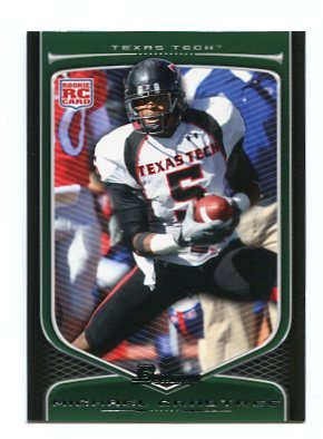 MICHAEL CRABTREE 2009 Bowman #114 ROOKIE Texas Tech SF 49ers