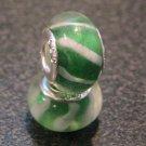 Murano Glass Bead 925 Silver fits Pandora & Troll S211 Green