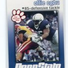 OLLIE OGBU 2009 Penn State Second Mile college card D-TACKLE Indianapolis Colts