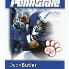 DEON BUTLER 2008 Penn State Second Mile College card SEAHAWKS