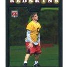 COLT BRENNAN 2008 Topps Chrome #TC172 Redskins HAWAII Warriors ROOKIE QB
