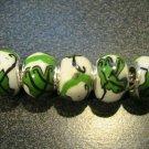 Fimo Bead fits Pandora & Troll S309 Green Foliage