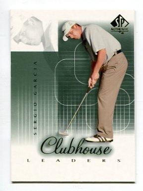 SERGIO GARCIA 2002 SP Authentic Clubhouse Leaders #57 PGA