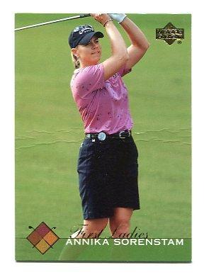 ANNIKA SORENSTAM 2003 Upper Deck UD First Ladies #48 ROOKIE LPGA Creased