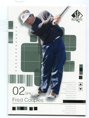 FRED COUPLES 2002 SP Authentic #4 PGA