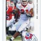RYAN MATHEWS 2010 Sage Hit #21 ROOKIE Fresno State RB Chargers