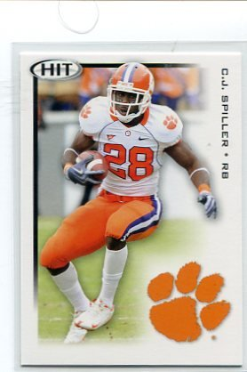 C.J. CJ SPILLER 2010 Sage Hit #28 ROOKIE Clemson Tigers BILLS RB