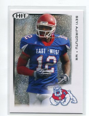 SEYI AJIROTUTU 2010 Sage Hit SILVER SP #29 ROOKIE Fresno State CHARGERS WR