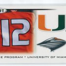 JACORY HARRIS 2010 Sage Hit #41 THE PROGRAM * Miami Hurricanes CANES Eagles QB
