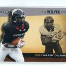 MARDY GILYARD 2010 Sage Hit WRITE STUFF Cincinnati Bearcats RAMS WR