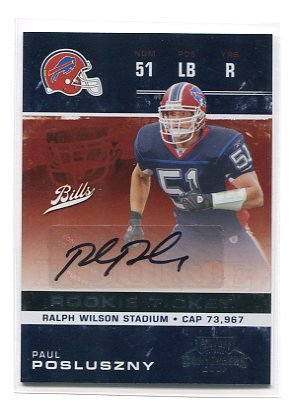 PAUL POSLUSZNY 2007 Playoff Contenders AUTO Autograph ROOKIE Penn State BILLS