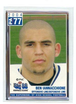 BEN IANNACCHIONE 2004 Big 33 Pennsylvania High School card WEST VIRGINIA Mountaineers
