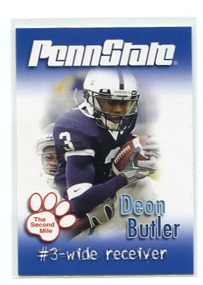 DEON BUTLER 2007 Penn State Second Mile College card SEAHAWKS