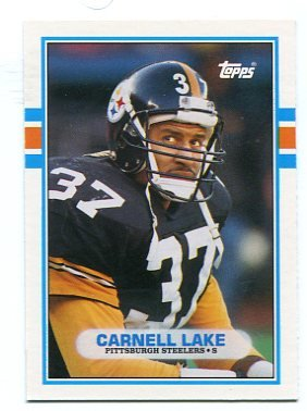CARNELL LAKE 1989 Topps Traded #80T ROOKIE Steelers UCLA Bruins