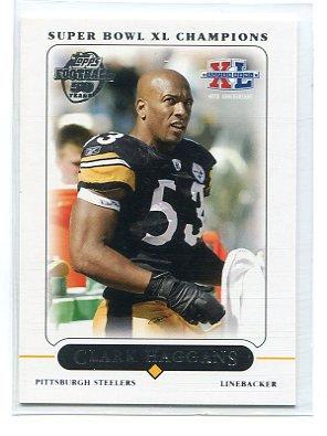 CLARK HAGGANS 2005 Topps Super Bowl XL Champions Set #8 Steelers