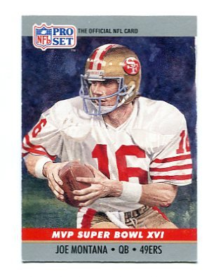 JOE MONTANA 1990  Pro Set Super Bowl XVI MVP #16 SF 49ers Notre Dame QB