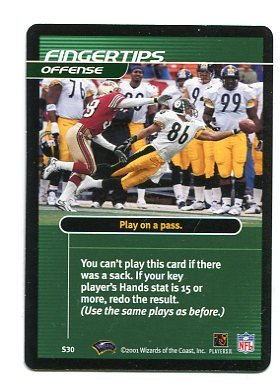 HINES WARD 2001 NFL Showdown Action Card STEELERS Georgia Bulldogs