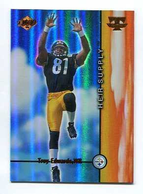 TROY EDWARDS 1999 Collector's Edge CE Triumph Heir Supply ROOKIE INSERT #HS10 Steelers