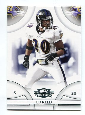 ED REED 2008 Donruss Threads #98 Baltimore Ravens MIAMI CANES