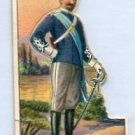 OFFICER OF LIGHT CAVALRY, ITALY 1909 Military Series T81 Tobacco Card