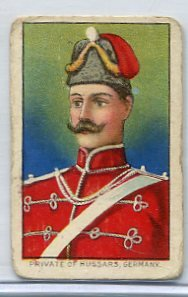 PRIVATE OF HUSSARS, GERMANY 1910 Military Series T79 Tobacco Card